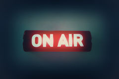 ON AIR broadcast message Stock Images