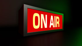 ON AIR broadcast message. 3D render of ON AIR broadcast message Royalty Free Stock Photography