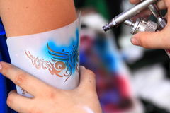 Air brush tatoo Royalty Free Stock Images