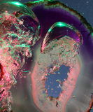 Air bubbles and agate Royalty Free Stock Images