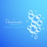 Air Bubbles Background. Blue abstract vector background with air bubbles Royalty Free Stock Images