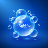 Air Bubbles Background. Air bubbles underwater background. Abstract vector illustration Royalty Free Stock Photography