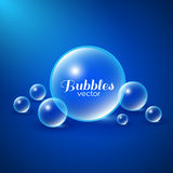 Air Bubbles Background. Air bubbles underwater background. Abstract vector illustration Royalty Free Stock Images