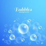 Air Bubbles Background. Air bubbles underwater. Blue abstract vector background Royalty Free Stock Photos