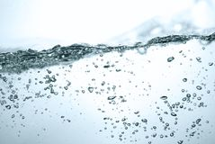 Air bubbles in water Royalty Free Stock Images