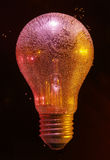 Air bubbles on bulb Royalty Free Stock Photo
