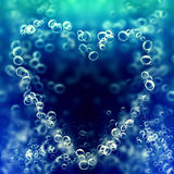 Air bubbles in the shape of heart Royalty Free Stock Images