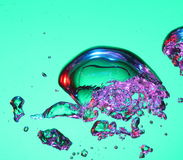 Air bubbles in water Royalty Free Stock Photo