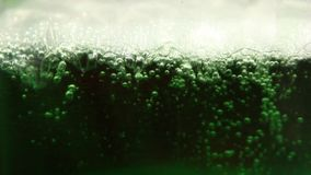 Air bubbles In the water stock video