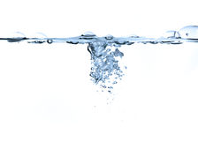 Air bubbles in water isolated royalty free stock image