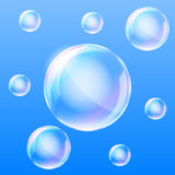 Air bubbles in the water. Realistic air bubbles in the water. Vector illustration royalty free illustration