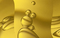 Air bubbles in water Stock Photo