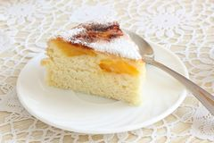 Air cake with oranges. And sugar  on white Stock Image
