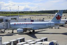 Air Canada in Anchorage royalty free stock images
