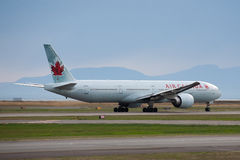 Air Canada Boeing 777 Photographie stock libre de droits