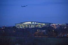 Air Canada Boeing decolagem de 767 noites do aeroporto de Heathrow Fotos de Stock