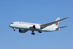 Air Canada C-GHPX, aterrissagem de Boeing 787-8 Dreamliner no Pequim, China Fotos de Stock