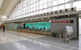 Air Canada check-in at the Toronto Pearson Airport Royalty Free Stock Images