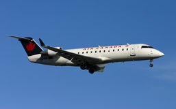 Air Canada CRJ plane landing Royalty Free Stock Photo