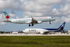 Air Canada Embraer 175 Aircraft Stock Photography