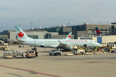 Air Canada Embraer 190 at Ft. Lauderdale Airport Royalty Free Stock Photo