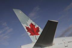 Air Canada flygplan på den Frankfurt flygplatsen Arkivfoton