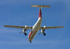 Air Canada Jazz Dash 8 landing Royalty Free Stock Images