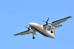 Air Canada-Jazzvlucht het opstijgen Stock Afbeeldingen