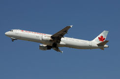 Air canada jet departing Royalty Free Stock Image