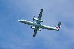 Air Canada lądowania Ekspresowy samolot Fotografia Royalty Free