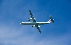 Air Canada lądowania Ekspresowy samolot Zdjęcie Stock
