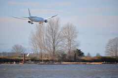 Air Canada Landing at Vancouver International Airport Stock Images