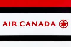Air Canada logo na panelu Zdjęcia Royalty Free