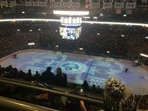 Air Canada mitt Toronto Maple Leafslek Arkivfoto