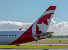 Air Canada Rouge Boeing 767 tail Royalty Free Stock Photography