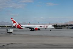 Air Canada Rouge Jet Stock Photography
