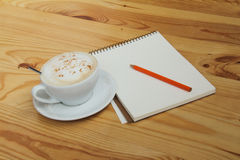 Air cappuccino for productive work Royalty Free Stock Photo