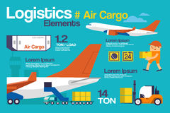 Air Cargo. Vector Illustration Logistic, Air Cargo Infographics and Elements Royalty Free Stock Photo