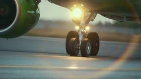 Air chaud derrière le moteur d'avions banque de vidéos
