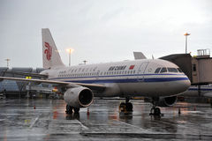 Air China Aeroplae am Flughafen Stockfotos