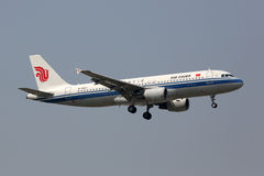 Air China Airbus A320 airplane Beijing airport Stock Images