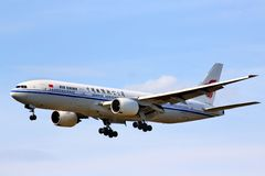 Air China Boeing 777 Images stock