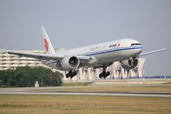 Air China Boeing 777 em Francoforte Foto de Stock