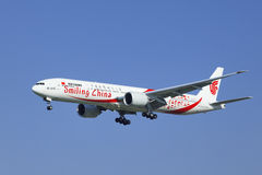 Air China Boeing 777-39LER, B-2035 débarque, Pékin, Chine Photographie stock libre de droits