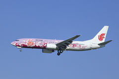 Air China Boeing 737-86N, atterrissage B-5177 dans Pékin, Chine Photos libres de droits