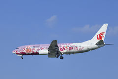 Air China Boeing 737-86N, atterrissage B-5177 dans Pékin, Chine Photographie stock