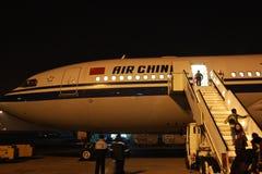 Air China nell'aeroporto di Cairo Fotografia Stock Libera da Diritti