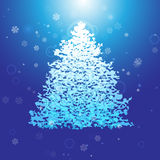 Air Christmas tree. On a blue background Stock Photo