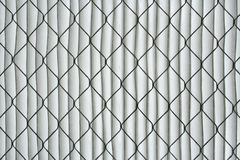 Air cleaning filter. Close-up of a clean air filter Stock Image