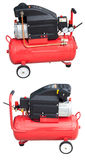 Air compressor with clipping path. 24 liter/2 HP air compressor (front and back) with clipping path Royalty Free Stock Photo